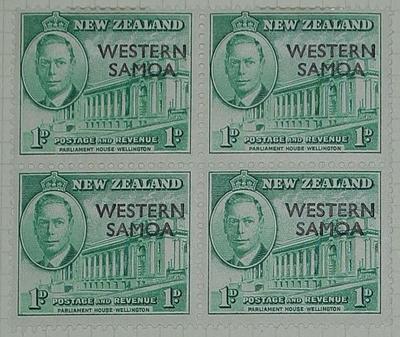 Stamps: New Zealand - Western Samoa One Penny