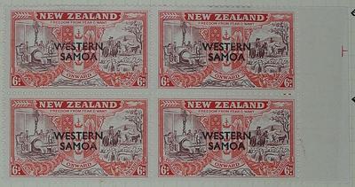 Stamps: New Zealand -Western Samoa Six Pence