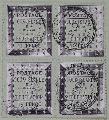 Stamps: Cook Islands One and a Half Pence