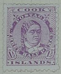 Stamp: Cook Islands One and a Half Pence