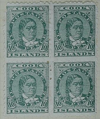 Stamps: Cook Islands Ten Pence
