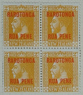 Stamps: New Zealand - Rarotonga Two Pence