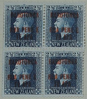 Stamps: New Zealand - Rarotonga Two and a Half Pence