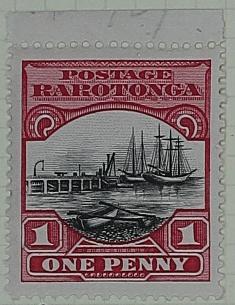 Stamp: Rarotonga One Penny