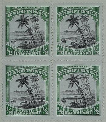 Stamps: Rarotonga Half Penny