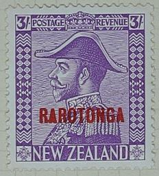 Stamp: New Zealand - Rarotonga Three Shillings