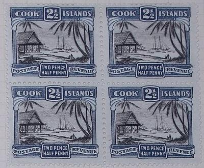 Stamps: Cook Islands Two and a Half Pence