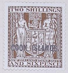 Stamp: New Zealand - Cook Islands Two Shillings and Six Pence