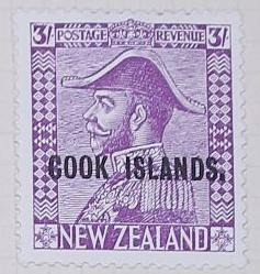Stamp: New Zealand - Cook Islands Three Shillings