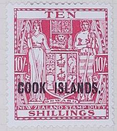 Stamp: New Zealand - Cook Islands Ten Shillings