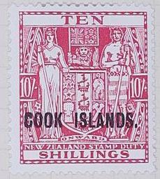 Stamp: New Zealand - Cook Islands Ten Shillings