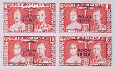 Stamps: New Zealand - Cook Islands Six Pence
