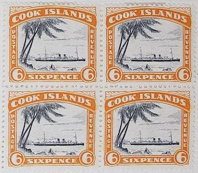 Stamps: Cook Islands Six Pence