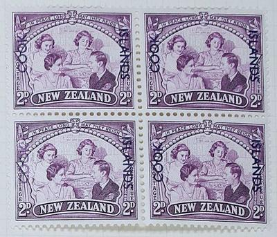 Stamps: New Zealand - Cook Islands Two Pence