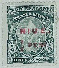 Stamp: New Zealand - Niue Half Penny