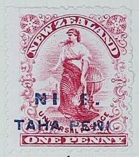 Stamp: New Zealand - Niue One Penny