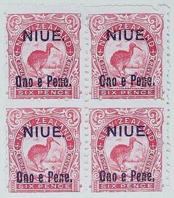 Stamps: New Zealand - Niue Six Pence
