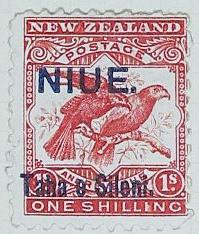 Stamp: New Zealand - Niue One Shilling