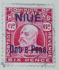 Stamp: New Zealand - Niue Six Pence