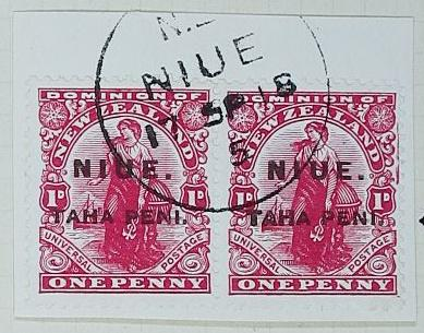 Stamps: New Zealand - Niue One Penny