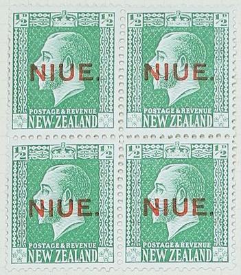 Stamps: New Zealand - Niue Half Penny