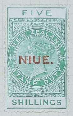 Stamp: New Zealand - Niue Five Shillings