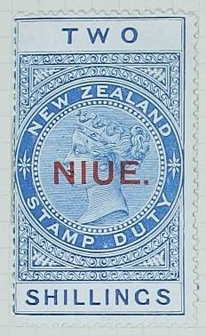 Stamp: New Zealand - Niue Two Shillings