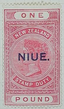 Stamp: New Zealand - Niue One Pound