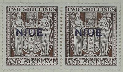 Stamps: New Zealand - Niue Two Shillings and Six Pence