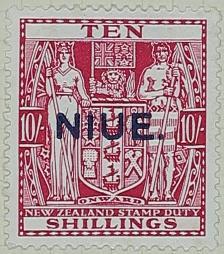 Stamp: New Zealand - Niue Ten Shillings