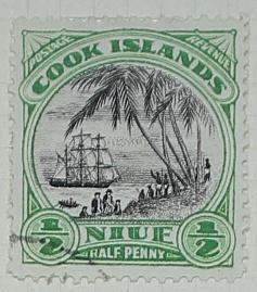 Stamp: Niue and Cook Islands Half Penny