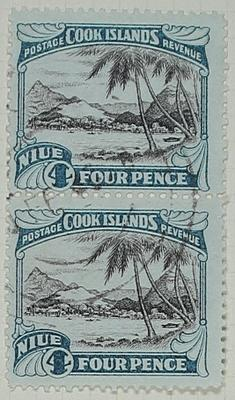 Stamps: Niue and Cook Islands Four Pence