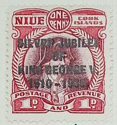 Stamp: Niue and Cook Islands One Penny