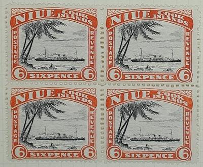 Stamps: Niue and Cook Islands Six Pence
