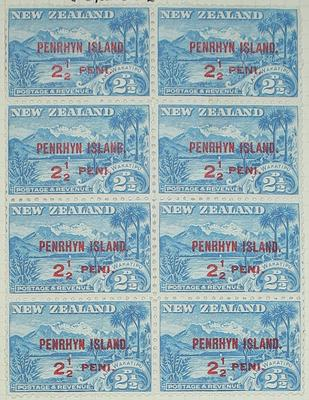 Stamps: New Zealand - Penrhyn Island Two and a Half Pence
