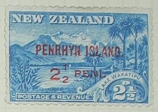 Stamp: New Zealand - Penrhyn Island Two and a Half Pence