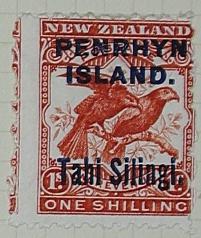 Stamp: New Zealand - Penrhyn Island One Shilling