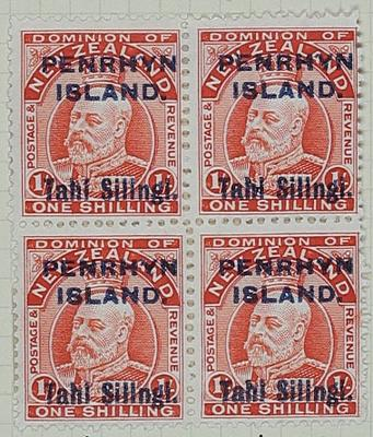 Stamps: New Zealand - Penrhyn Island One Shilling