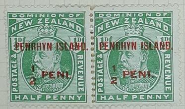 Stamps: New Zealand - Penrhyn Island Half Penny
