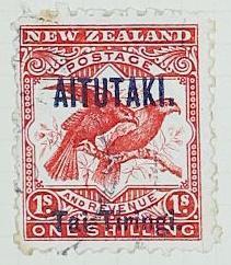 Stamp: New Zealand - Aitutaki One Shilling