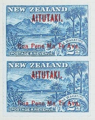 Stamps: New Zealand - Aitutaki Two and a Half Pence