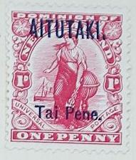 Stamp: New Zealand - Aitutaki One Penny