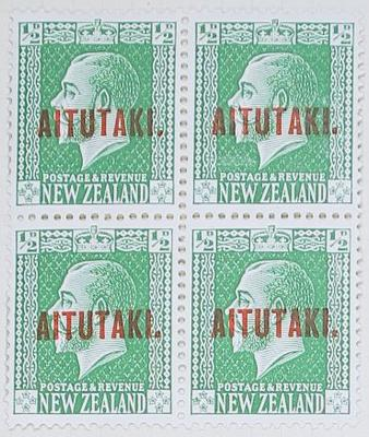 Stamps: New Zealand - Aitutaki Half Penny