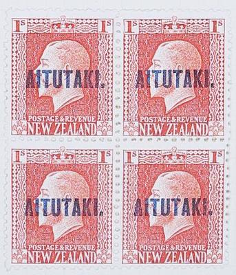 Stamps: New Zealand - Aitutaki One Shilling