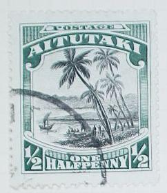 Stamp: Aitutaki Half Penny