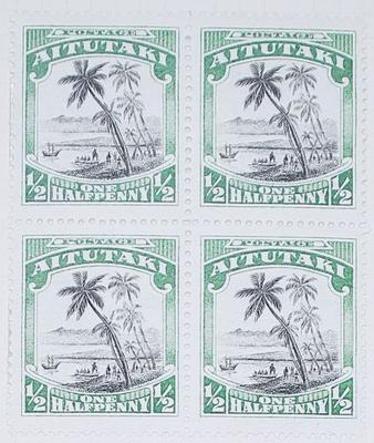 Stamps: Aitutaki Half Penny