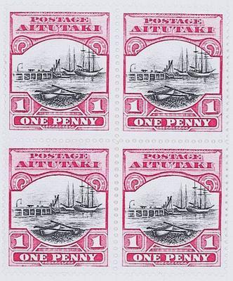 Stamps: Aitutaki One Penny