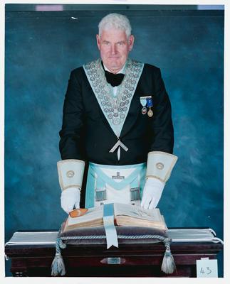 Negative: Mr Ashworth Freemason Portrait