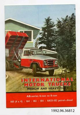 Catalogue: International Motor Trucks, Medium and Heavy Duty