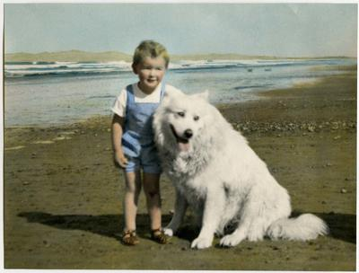 Photograph: Boy with Dog
